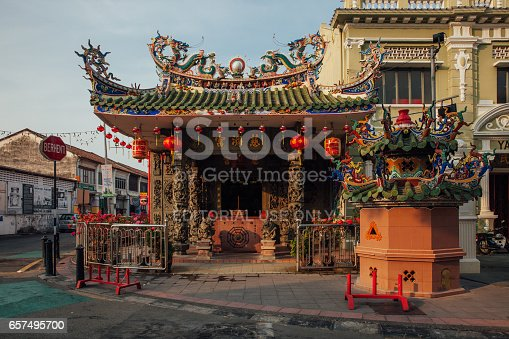 Temple On The Armenian Street Penang Malaysia Stock Photo & More Pictures of Architecture