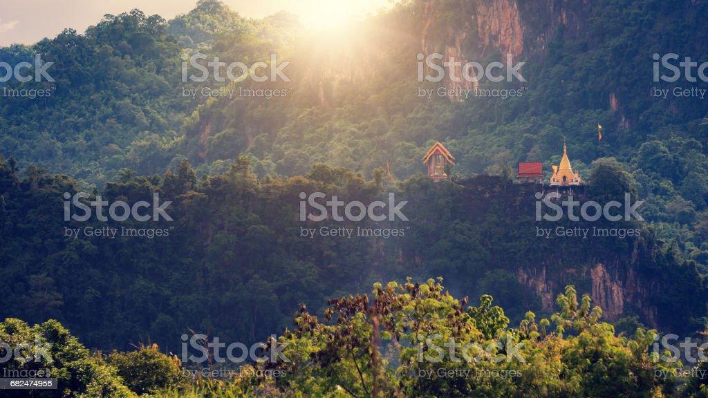 temple on the Mountain thailand royalty free stockfoto