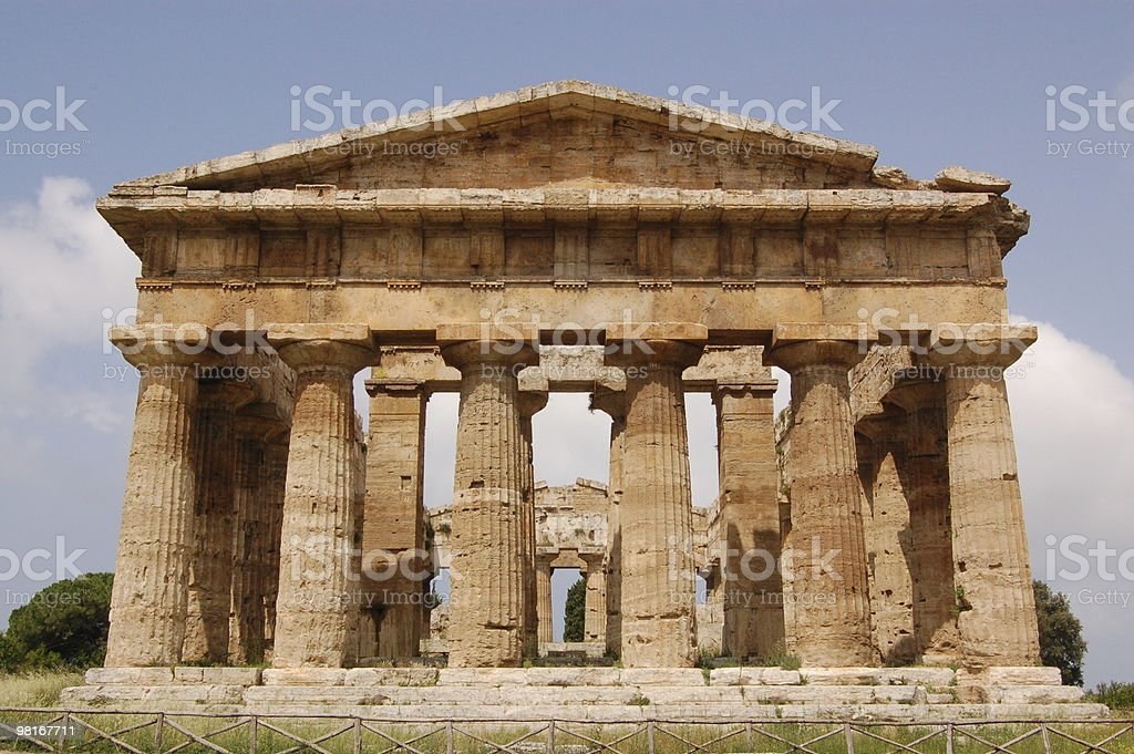 Temple, Paestum royalty-free stock photo