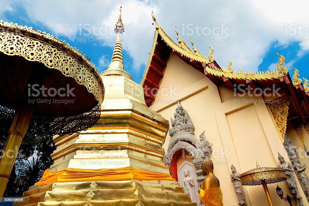 temple Phra That Doi Tung, Mae Sai, Chiang Rai, Thailand stock photo