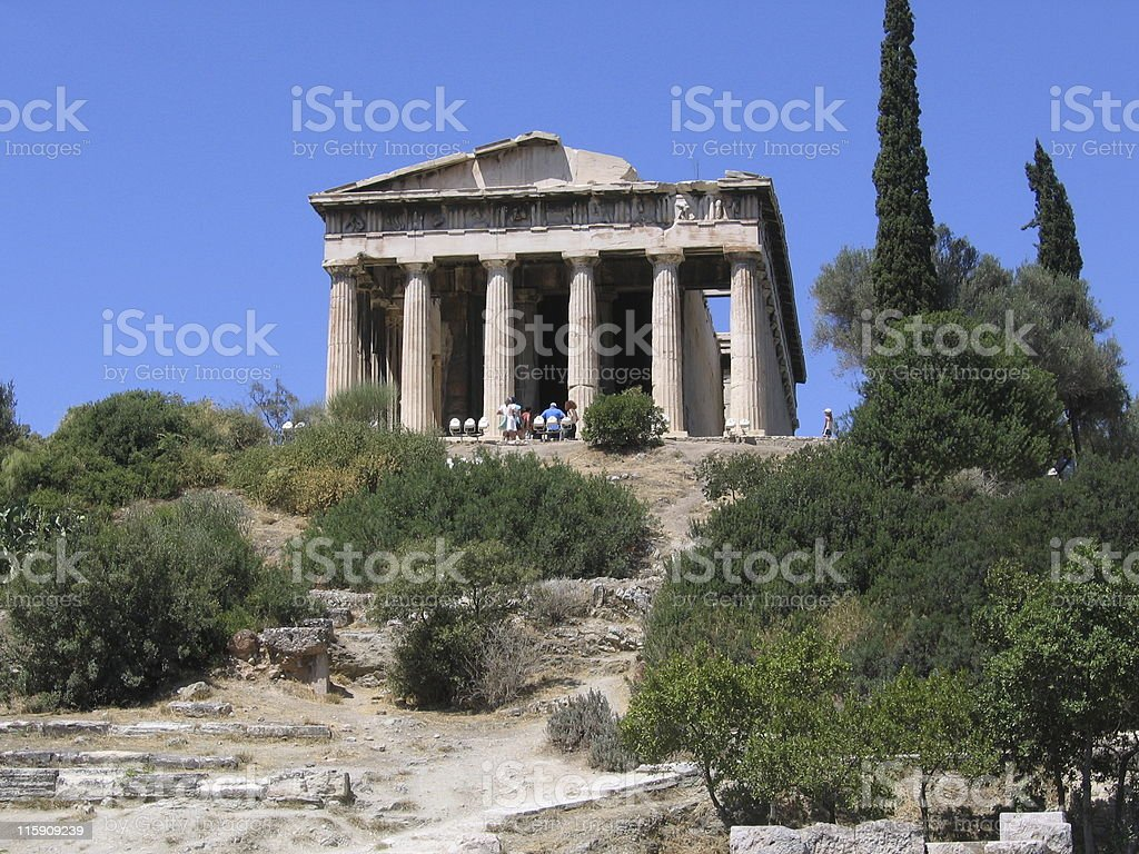 Temple  (Agora) royalty-free stock photo