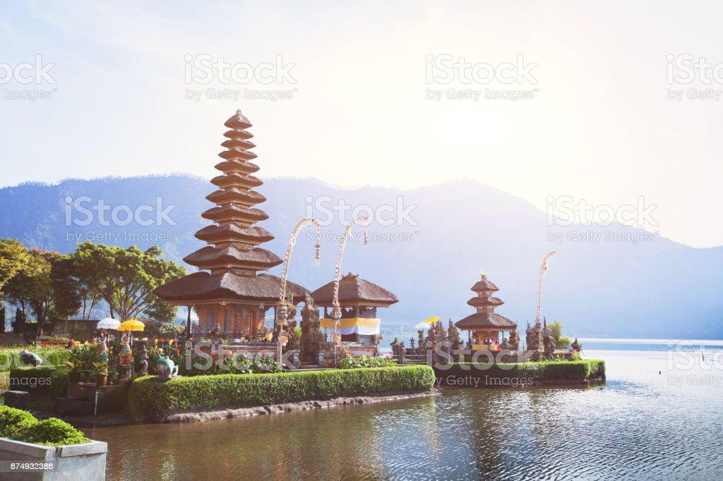 temple Pura Ulun Danu Bratan  in Bali, Indonesia stock photo