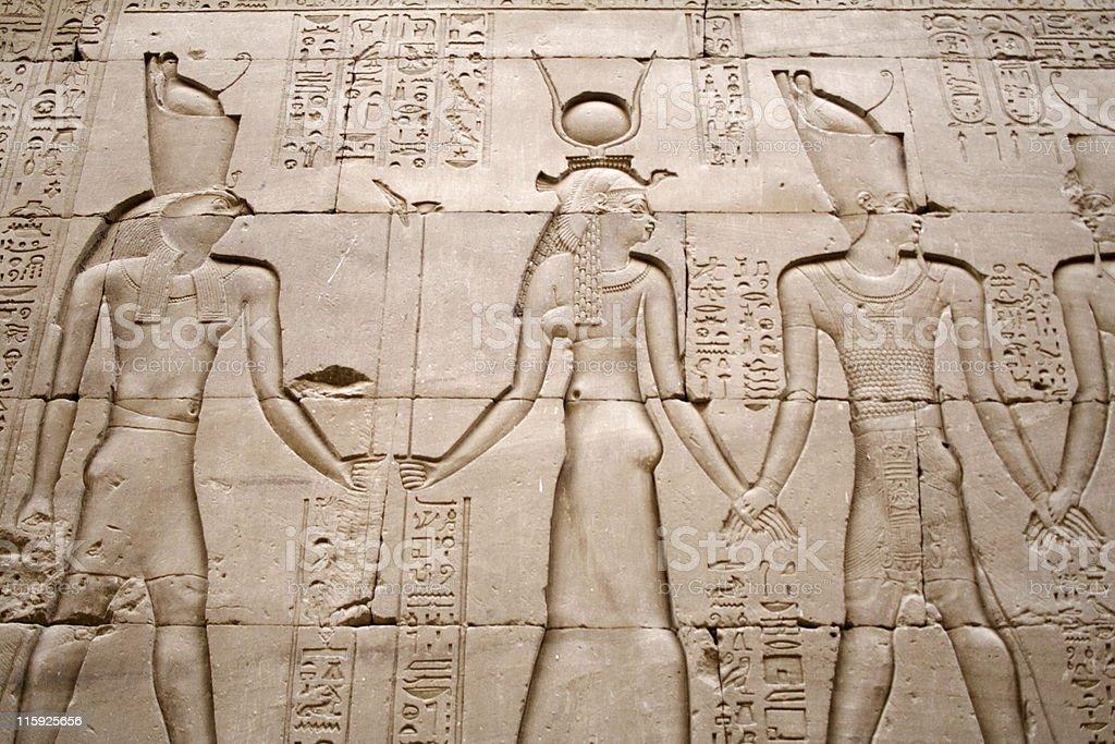 Temple relief, Edfu. Egypt royalty-free stock photo