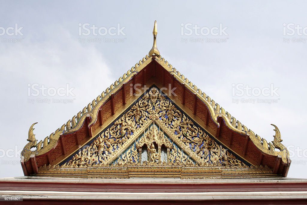 Temple Roof Against Sky stock photo