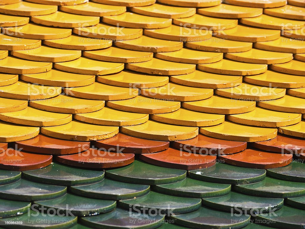 Temple roof pattern royalty-free stock photo