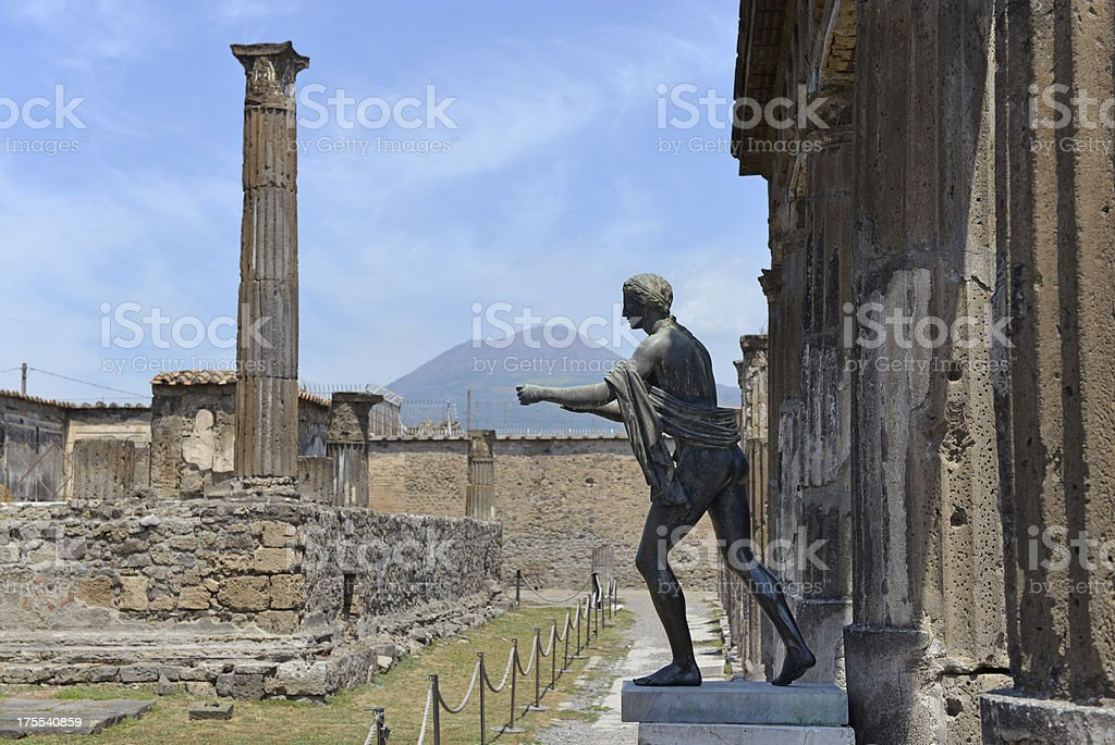 Temple Ruins at Pompeii stock photo