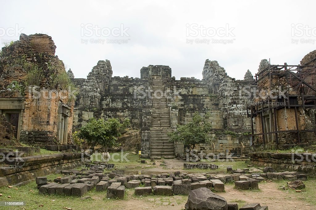 Temple Ruins Near Angkor Wat In Cambodia royalty-free stock photo
