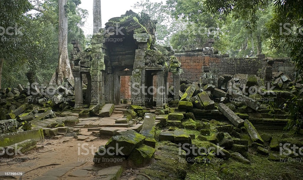 Temple Ruins Near Angkor Wat In Cambodia royalty-free stock photo