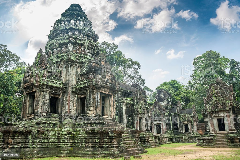 Temple Ruins Near Angkor Wat In Cambodia stock photo