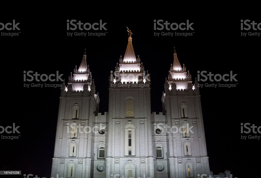 Temple, Salt Lake City royalty-free stock photo