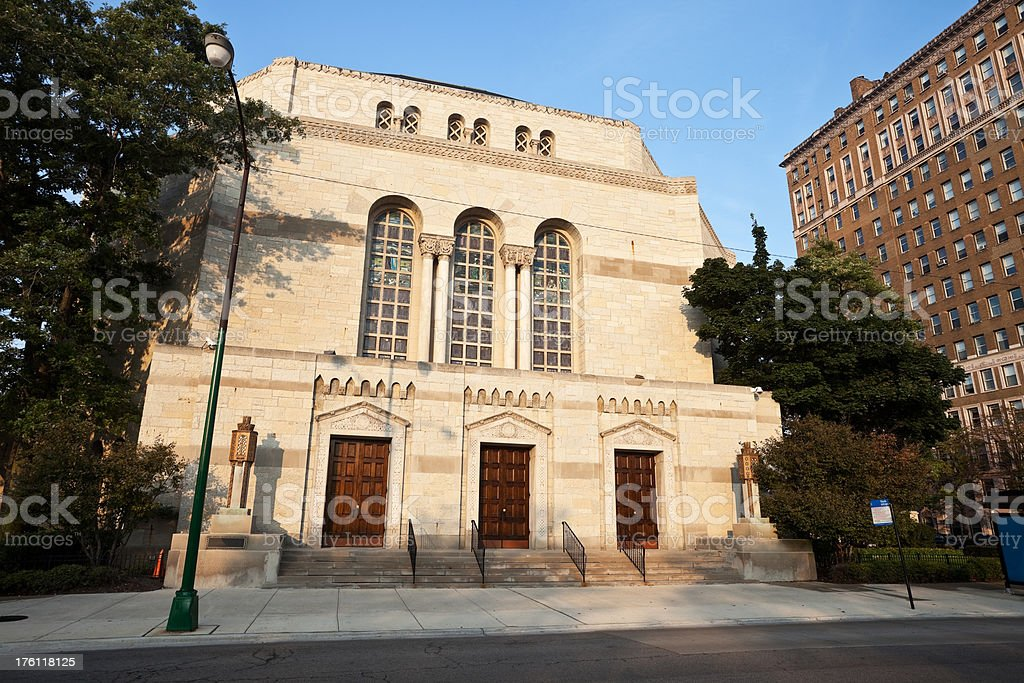 Temple Sholom in Chicago royalty-free stock photo