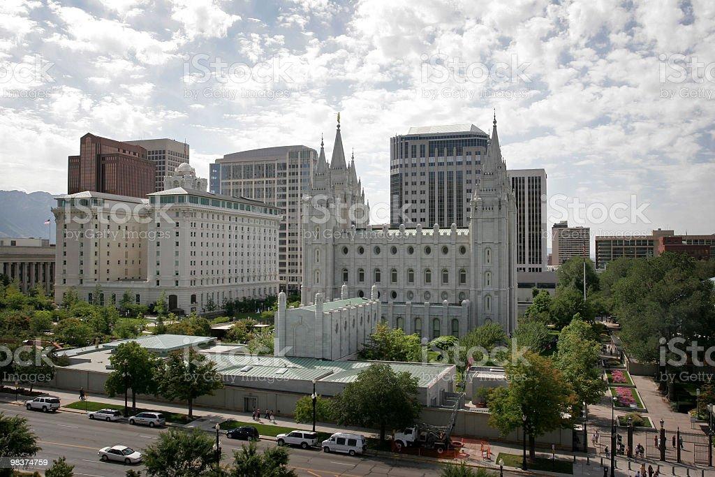 템플 스퀘어-Salt Lake City royalty-free 스톡 사진