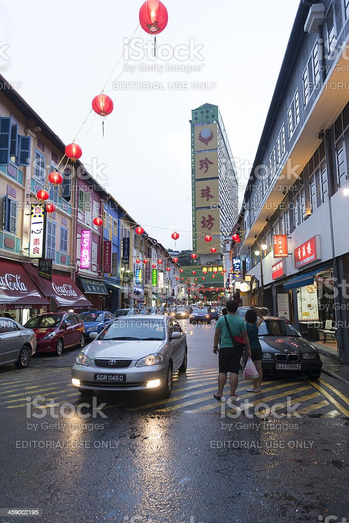 Temple Street Chinatown royalty-free stock photo