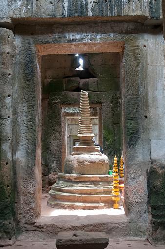 istock Temple stupa in Angkor 638788448