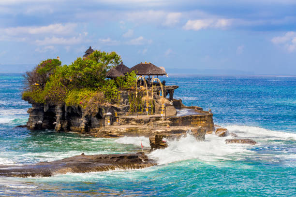 Temple Tanah Lot, Bali Island Indonesia stock photo