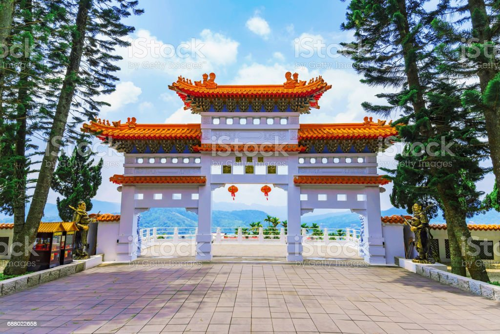 Temple traditional entrance in Taiwan stock photo