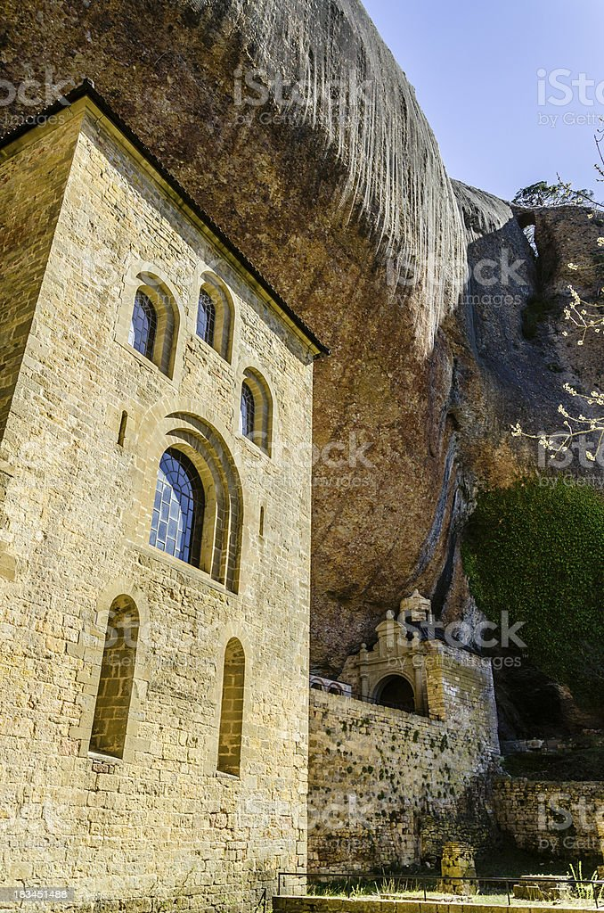 Temple under rocks royalty-free stock photo