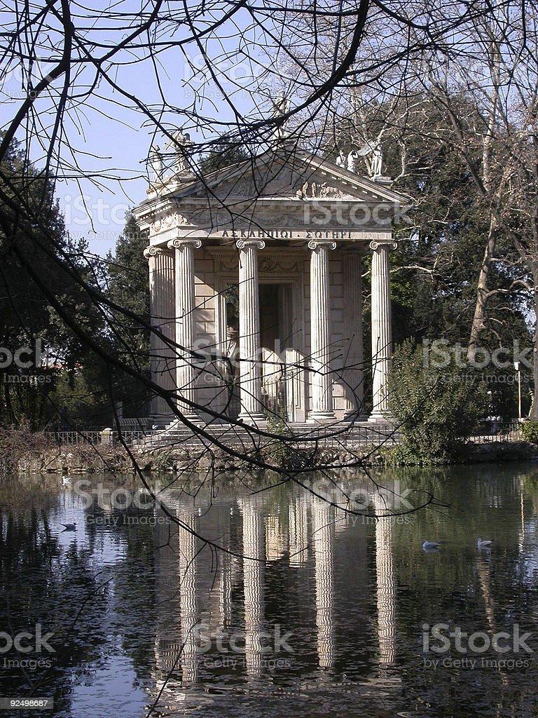 Temple, Villa Borghese royalty-free stock photo