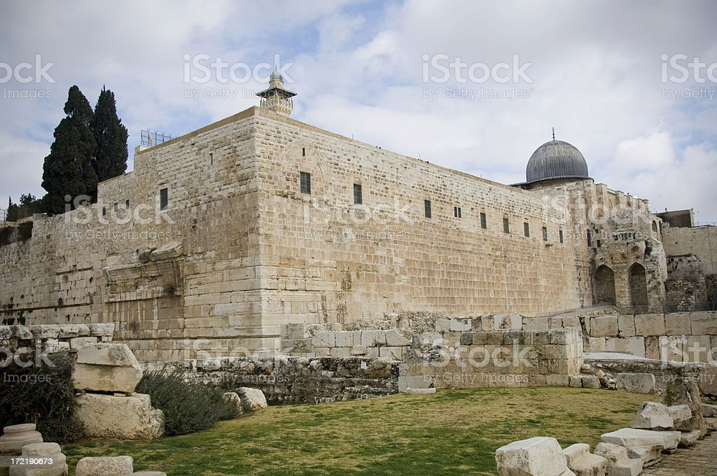 Temple wall in Jerusalem royalty-free stock photo
