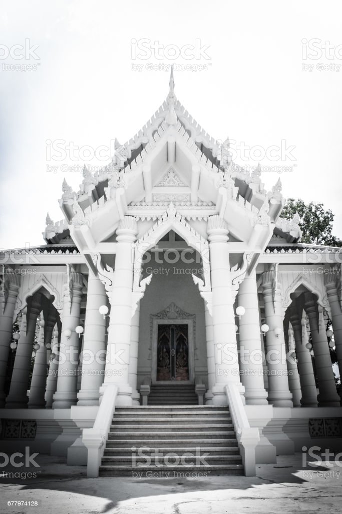 A temple with garden. royalty-free stock photo