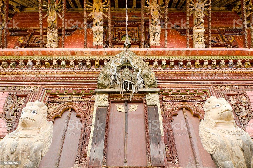Temple woodcraft of Nepal stock photo