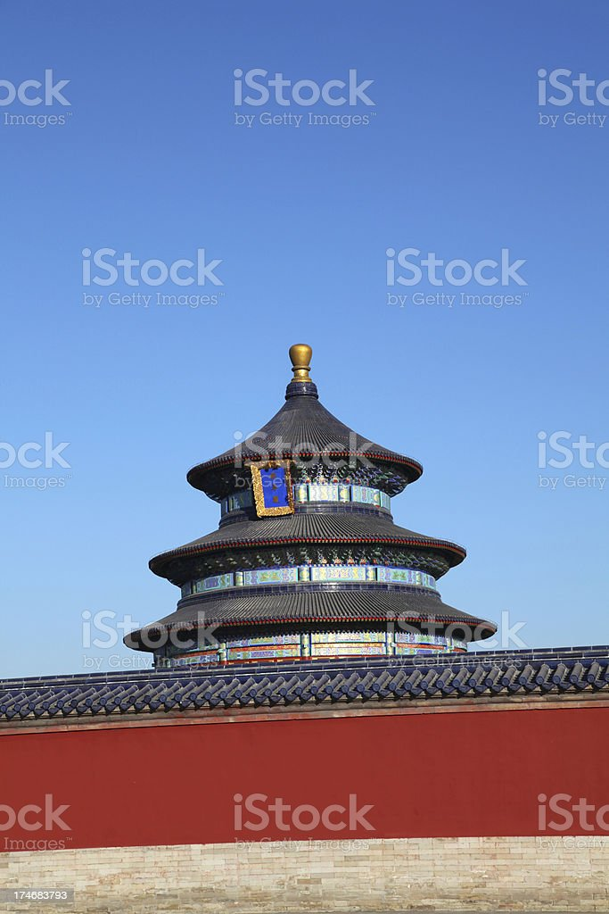 Temple/Altar Of Heaven, Beijing, China royalty-free stock photo