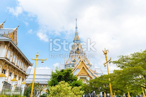 Temple,Buddha in thailand (Wat Sothon Wararam Worawihan)