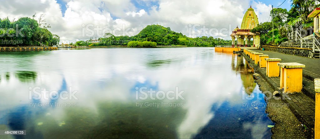 Temple-Mauritius stock photo