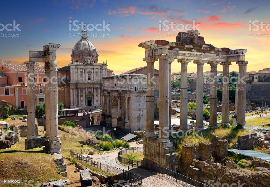 Tempel und Ruinen Forum Romanum – Foto