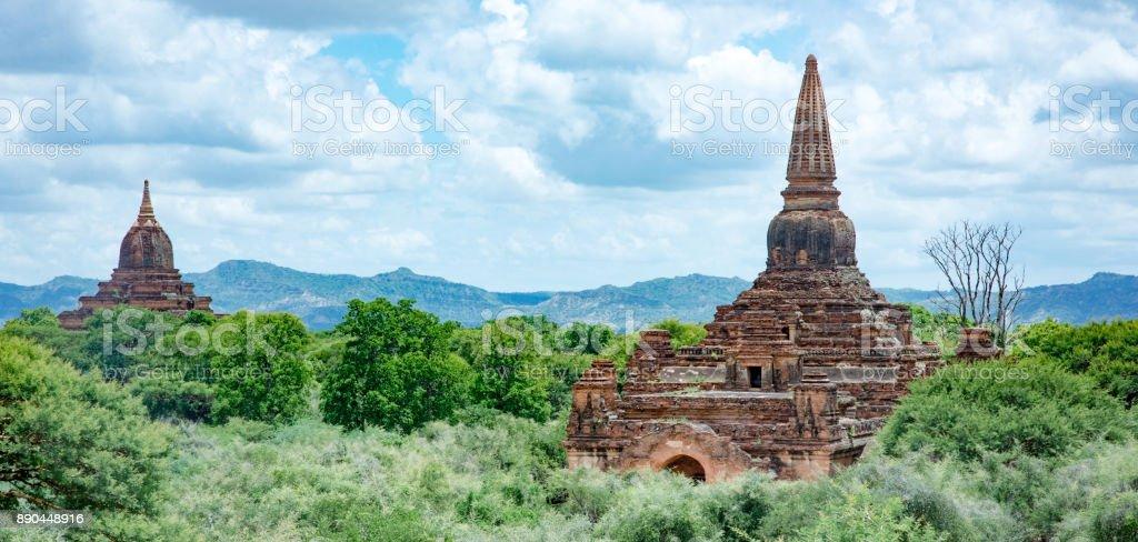 Temples in Bagan Myanmar stock photo