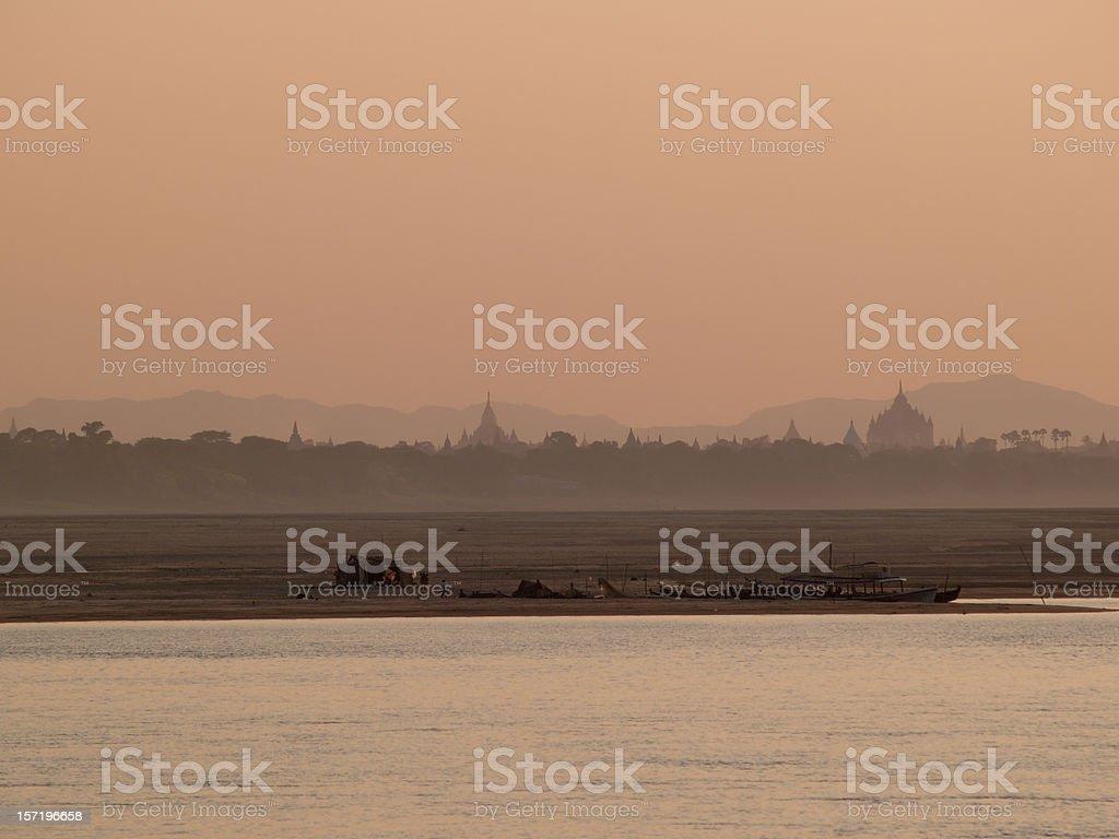 Temples of Bagan royalty-free stock photo