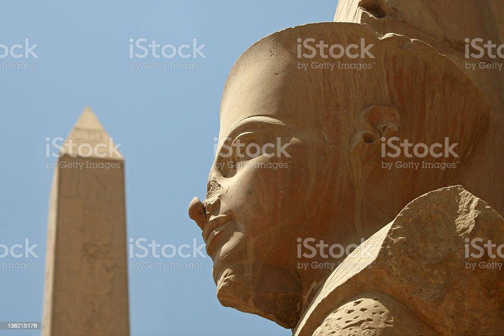 Temples of Karnak: Pharaoh and the Obelisk royalty-free stock photo
