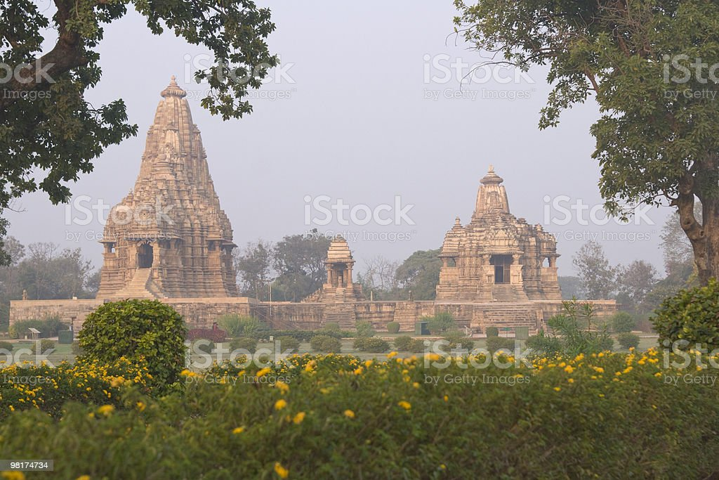 Temples of Khajuraho royalty-free stock photo