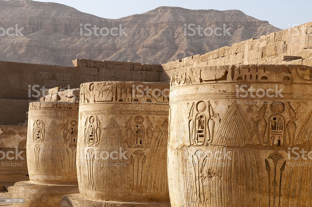 Temples of Luxor stock photo