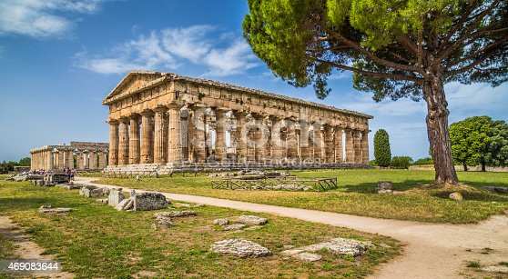 istock Temples of Paestum Archaeological Site, Campania, Italy 469083644