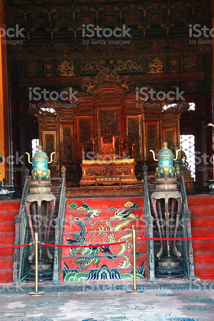 Temples Of The Forbidden City In Beijing China royalty-free stock photo