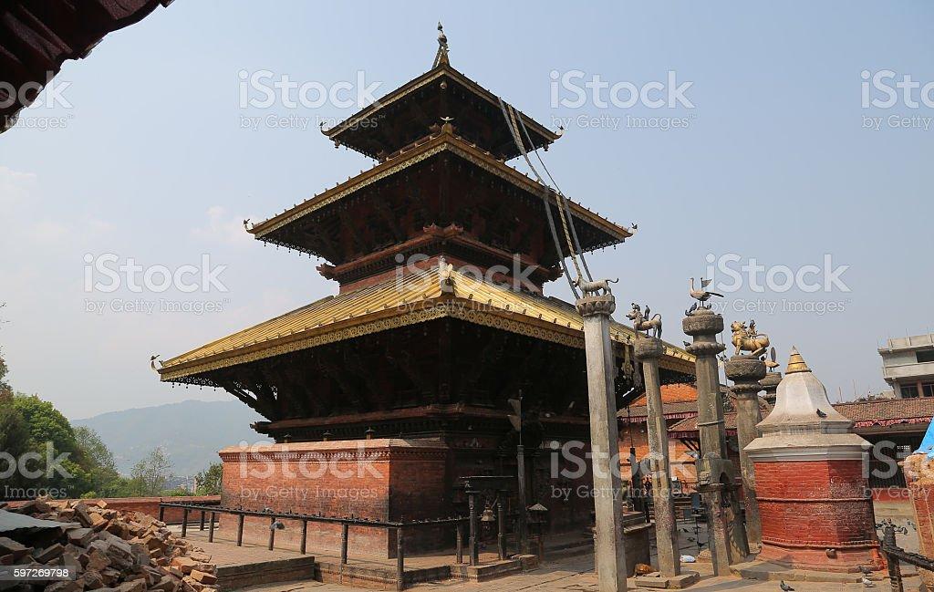Templo Chandeshwori, Banepa (Nepal) royalty-free stock photo