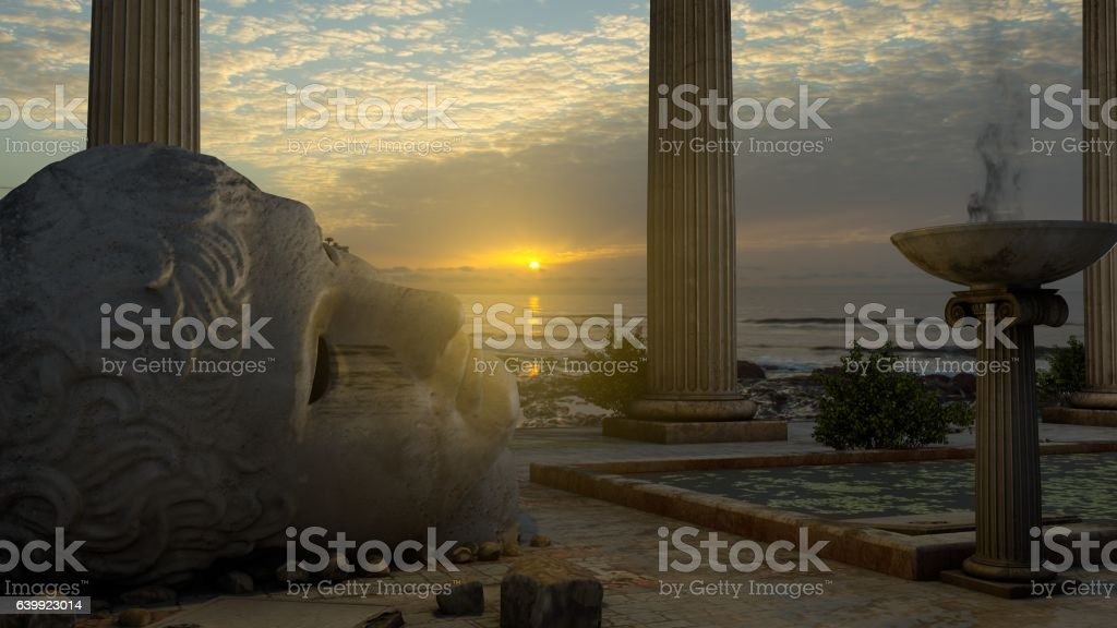 Templo de Apolo stock photo
