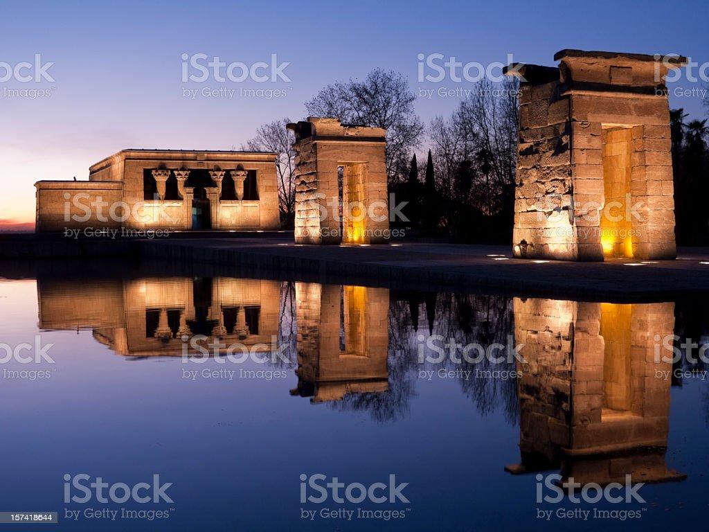 Templo de Debod at sunset stock photo