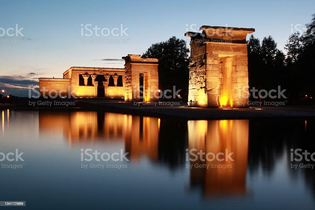 Templo de Debod in Madrid stock photo
