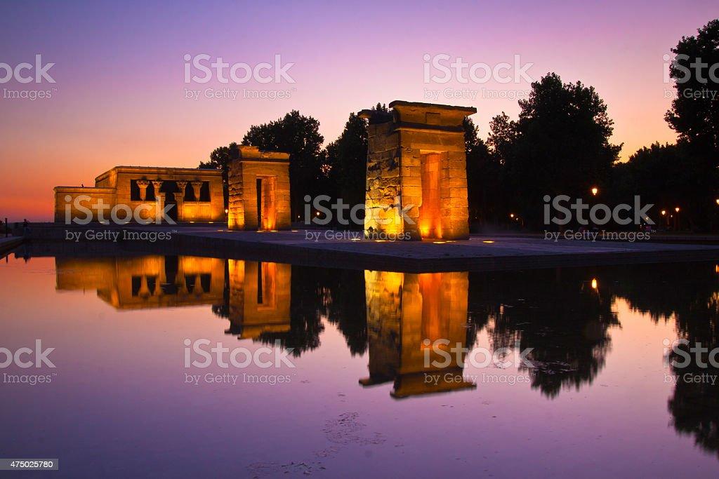 Templo de debod in Madrid, Spain. stock photo