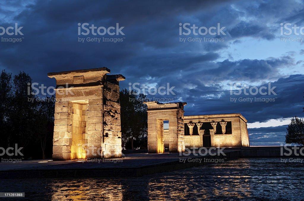 Templo de debod, Madrid stock photo