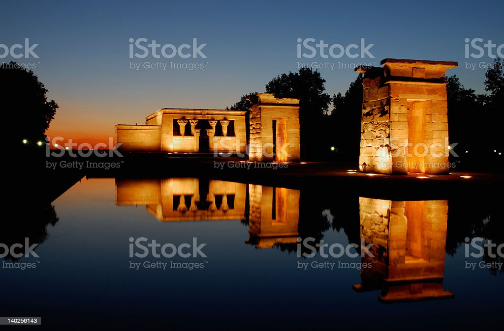 Templo de debod, Madrid. Spain stock photo