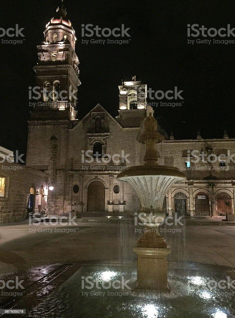 Templo de San Agustin stock photo