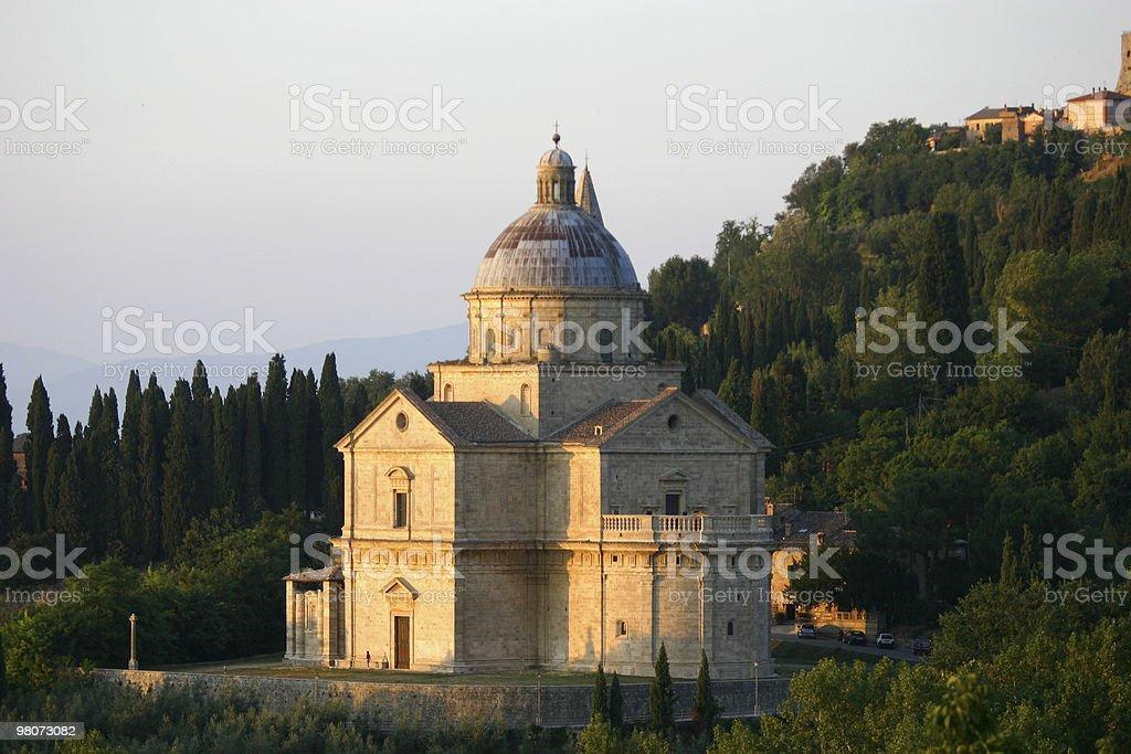 Templo de San Biagio, Montepulciano royalty-free stock photo