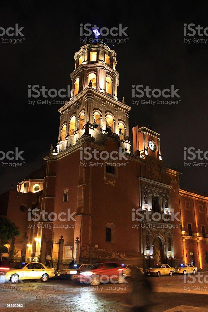 Templo de San Francisco, Queretaro, Mexico stock photo