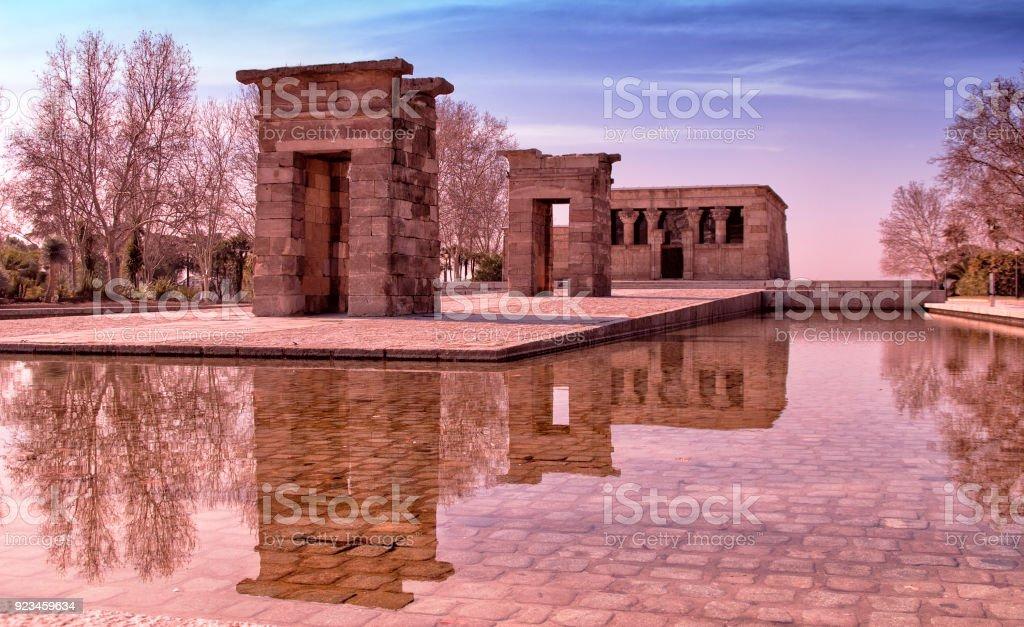 Templo Debod stock photo