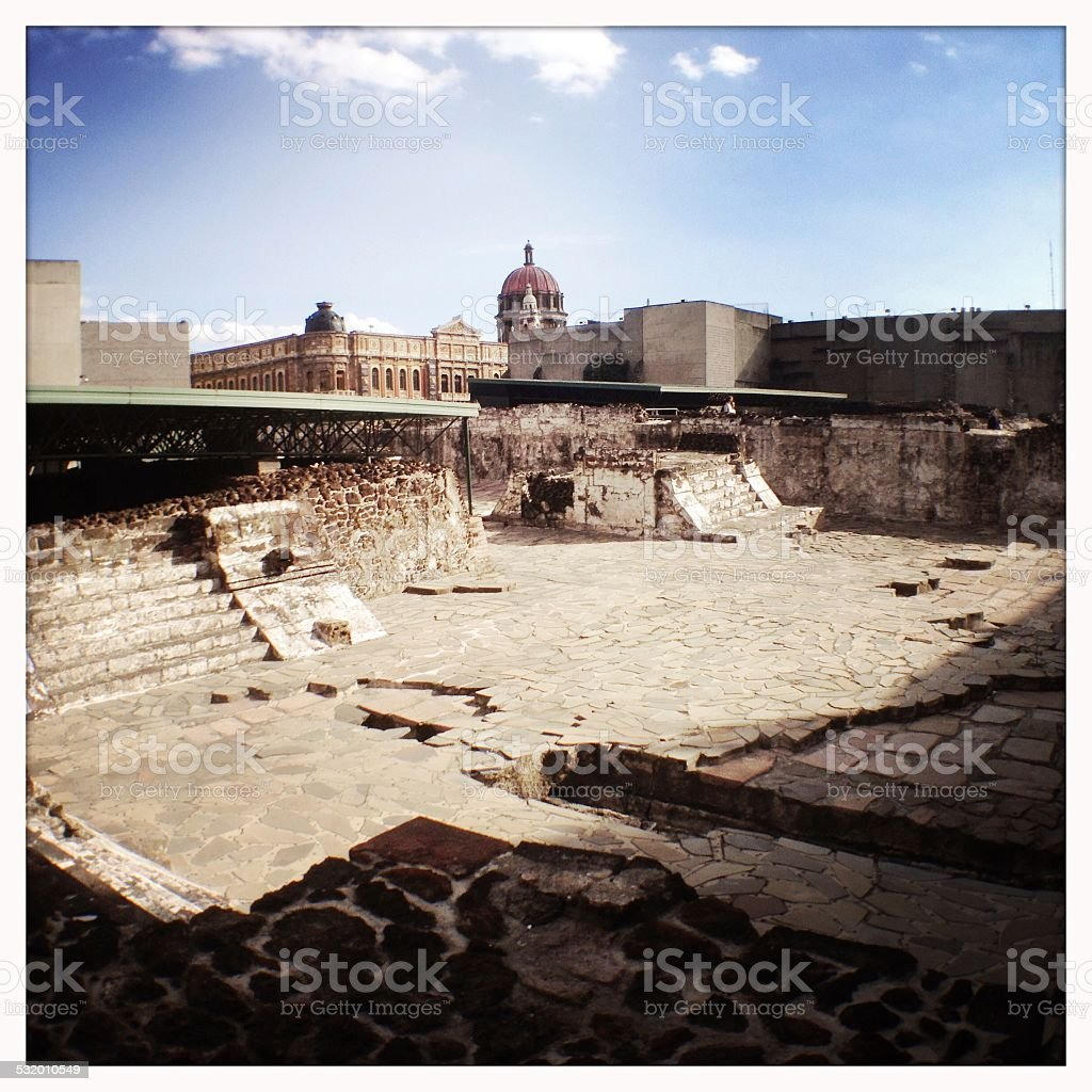Templo Mayor, Mexico stock photo