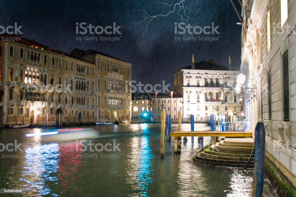 Temporale  a Venezia stock photo
