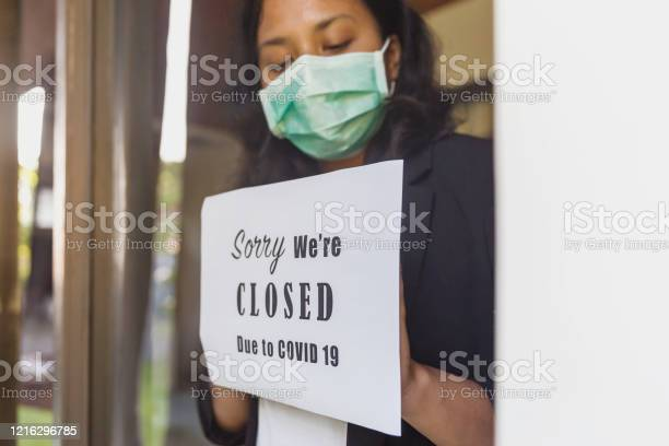 Temporarily Close Business As Covid19 Outbreak Stock Photo - Download Image Now
